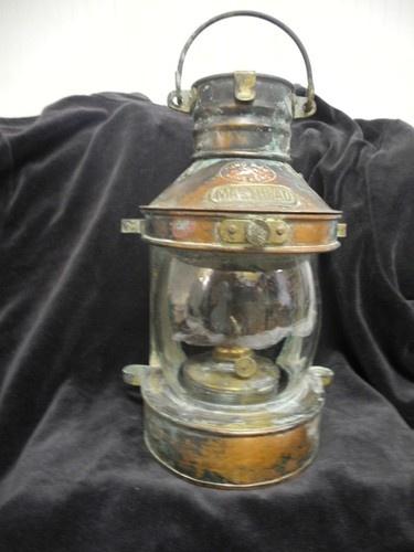 Antique Masthead Ship Lantern Oil Navigation Lamp Copper