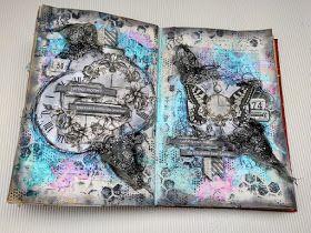 Art journal with video tutorial by Virag Reti
