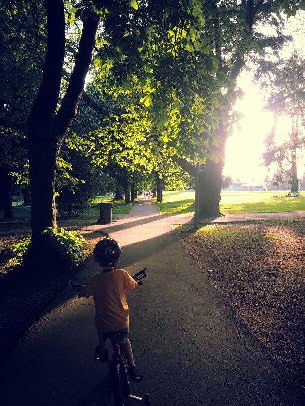 An evening ride thru the park