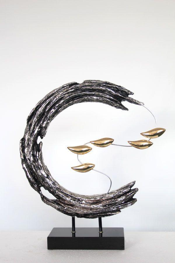 现代装饰雕塑 树脂雕塑 破浪