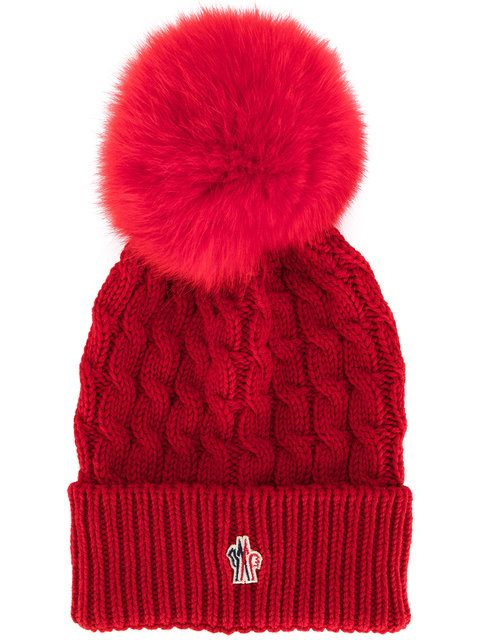 fd3aaf3c5 Moncler Grenoble fur pom pom beanie | accessorize. | Knitted hats ...