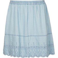 Junarose ANNE Spódnica jeansowa light blue denim