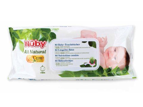 Le salviettine  Nûby™ Citroganix™ idratano, leniscono e proteggono il vostro bambino dalla dermatite da pannolino. Sono realizzate sotto controllo dermatologico. Sono soffici al tatto ma estremamente resistenti. Con l'aggiunta di Citroganix™ (Arancia Murcia), la loro formula completamente naturale e' efficace al 99,99% contro i batteri  responsabili della dermatite da pannolino (inclusa la Candida Albicans).