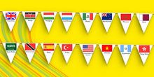 Rio 2016 Olympics Country flags