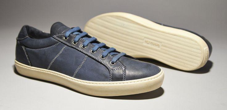 Pantofola d'Oro Mens Trainer Low Nappa T.C Navy Suola Tennis - Mens Footwear - Navy