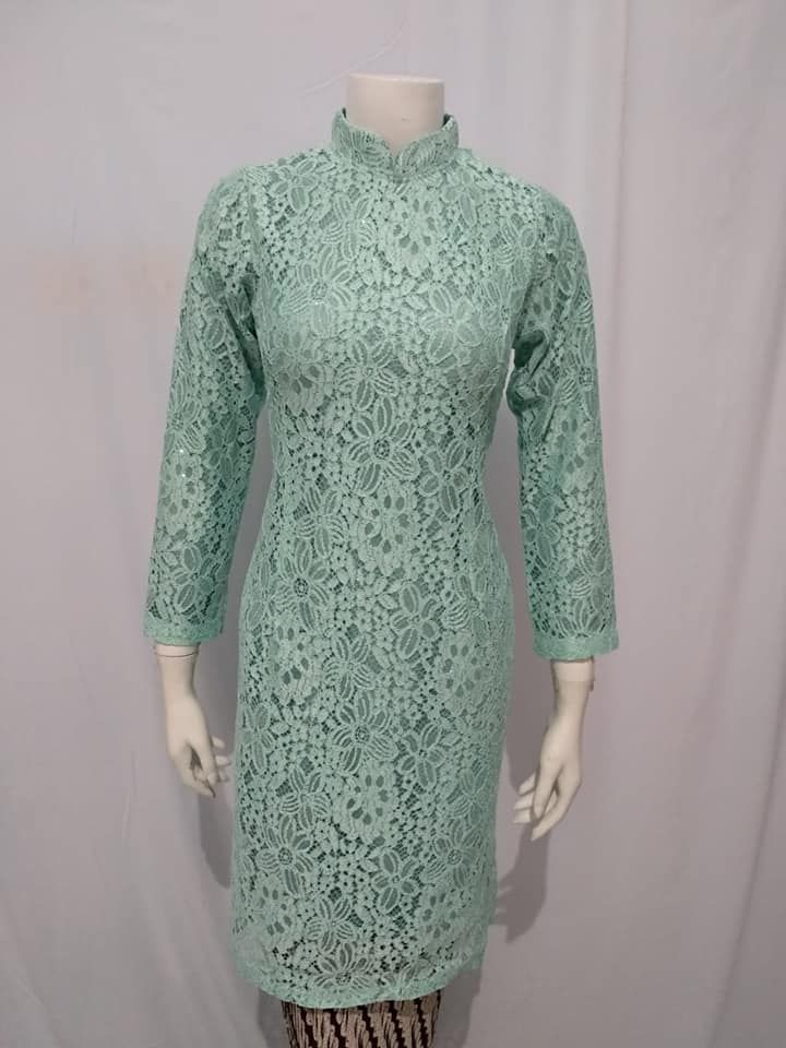 Model Kebaya Brokat Modern Panjang Terbaru Abaya Fashion Abaya