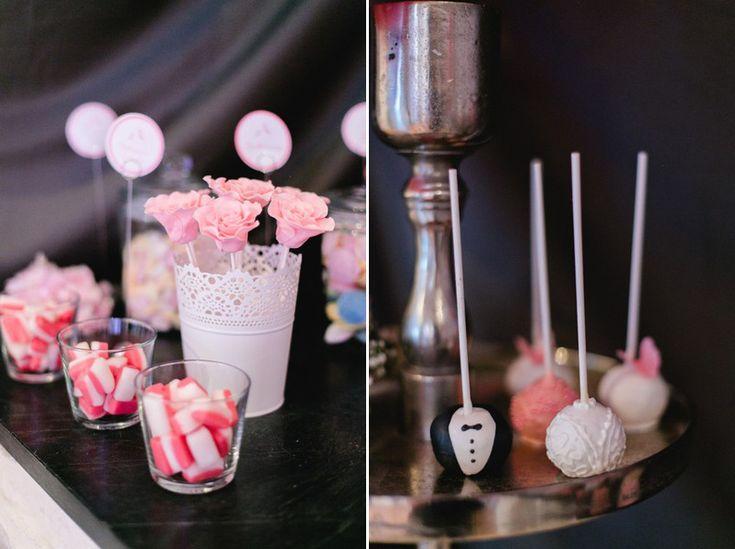 Candybar mit dem farb motto rosa wei und schwarz for Nanu nana hochzeit