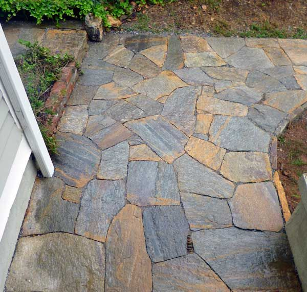Stone path walkways dry stone pathways over bad concrete hammerhead stoneworkshammerhead - Garden pathway design ideas with some natural stones trails ...