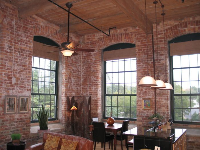 I M Just Loving This Loft With Its Brick Walls Large