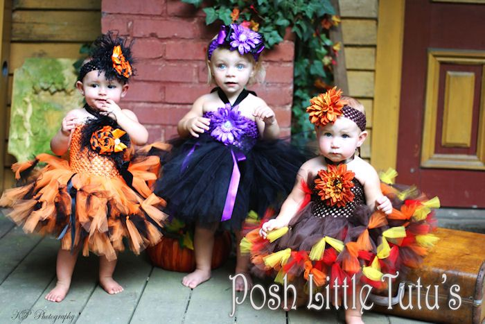 Your little trick-or-treater will be simply adorable in these Halloween and Fall costume tutus. We have pumpkin tutus, witch tutus, lady bug tutus, bumble bee tutus, fairy baby tutus, fall harvest tutus and more. All to purchase from Etsy