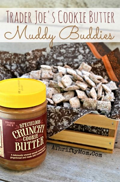 Trader Joe's Cookie Butter Muddy Buddies Recipe, Snack food, Easy party or finger food ideas
