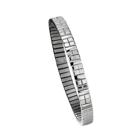 """Le bracelet en inox """"étroit"""" est un bijou fort en personnalité qui, convainquant autant par sa beauté que par sa qualité robuste, s'adapte aisément à votre style de vie. Que vous les portiez comme porte-bonheur, au travail ou pour une occasion spéciale, les bijoux flexi d'ENERGETIX Wellness attirent immanquablement les regards."""