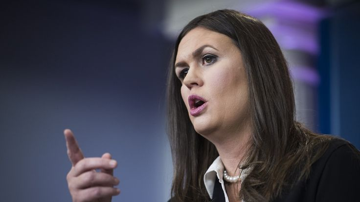 Sarah Huckabee Sanders sparred with a CBS correspondent at Friday's news briefing. Get this imbecile a copy of The First Amendment to the Constitution.