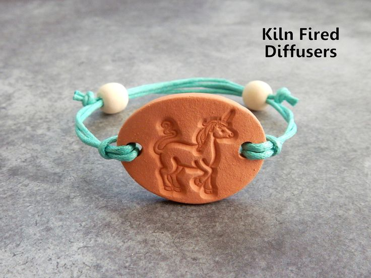 Kids or Adults Unicorn Adjustable Diffuser Bracelet Clay Aromatherapy Essential Oil Childrens Natural Eco Friendly Hypoallergenic Jewelry