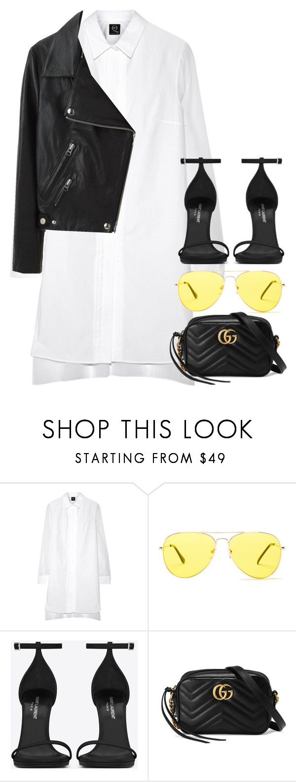 """Untitled #3106"" by elenaday on Polyvore featuring McQ by Alexander McQueen, Sunny Rebel, Yves Saint Laurent, Gucci and Acne Studios"