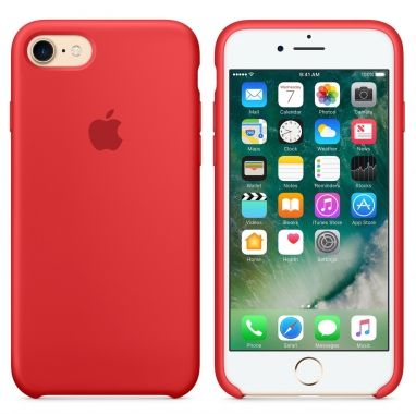 Apple iPhone 7 siliconenhoesje (PRODUCT)RED  SHOP ONLINE: http://www.purelifestyle.be/shop/view/technology/iphone-beschermhoezen/apple-iphone-7-siliconenhoesje-productred