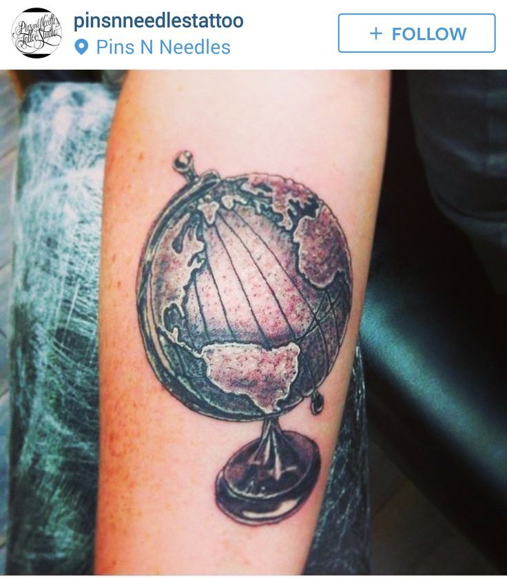 142 best images about globe amp world tattoos on pinterest