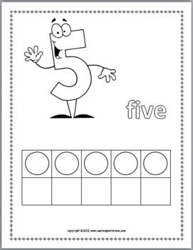 Maak een boekje met getallen 1 t/m10