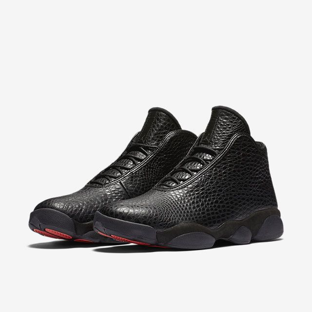 JORDAN Air Jordan 13 Premium Horizon Black Men's mid top shoe Woven upper with all-over intricate pattern Lace up closure Woven tongue with JORDAN jumpman flight logo detail Cushioned inner sole for c