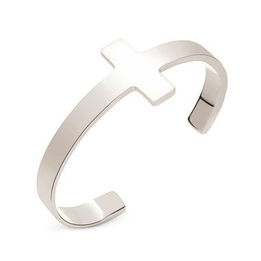 Embrace the punk spirit with this silver plated Folli Follie Carma bangle
