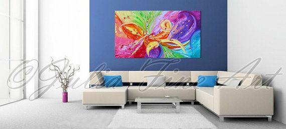 #AbstractPainting #FloralPainting #OriginalArt #Rainbow #Flower #LargeModernWallArt #PopArt #Colorfulpainting #Zen #HomeDecor #livingroom #homedecor