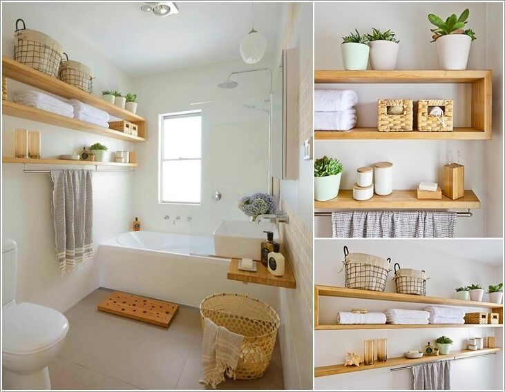Install Some Chic Wooden Floating Shelves Storage Ideas Space Saving Pinterest Shelves