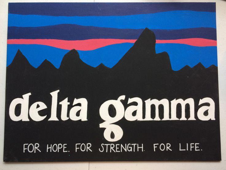 Delta Gamma Patagonia Craft by MackennaCrafts on Etsy https://www.etsy.com/listing/234972889/delta-gamma-patagonia-craft