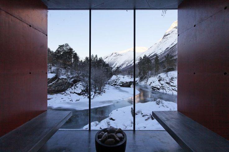 Norwegian sauna | River Sauna | Jensen & Skodvin Architects | Norway | #architecture