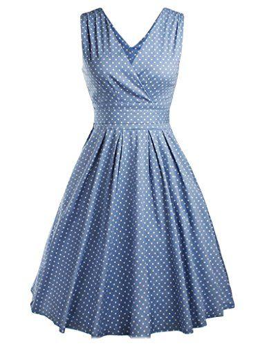 Damen Elegant Rundhals Trägerkleid 1950er Retro Polka Dot... https://www.amazon.de/dp/B01HJ98CAO/ref=cm_sw_r_pi_dp_x_3Lleyb8KJV1KC