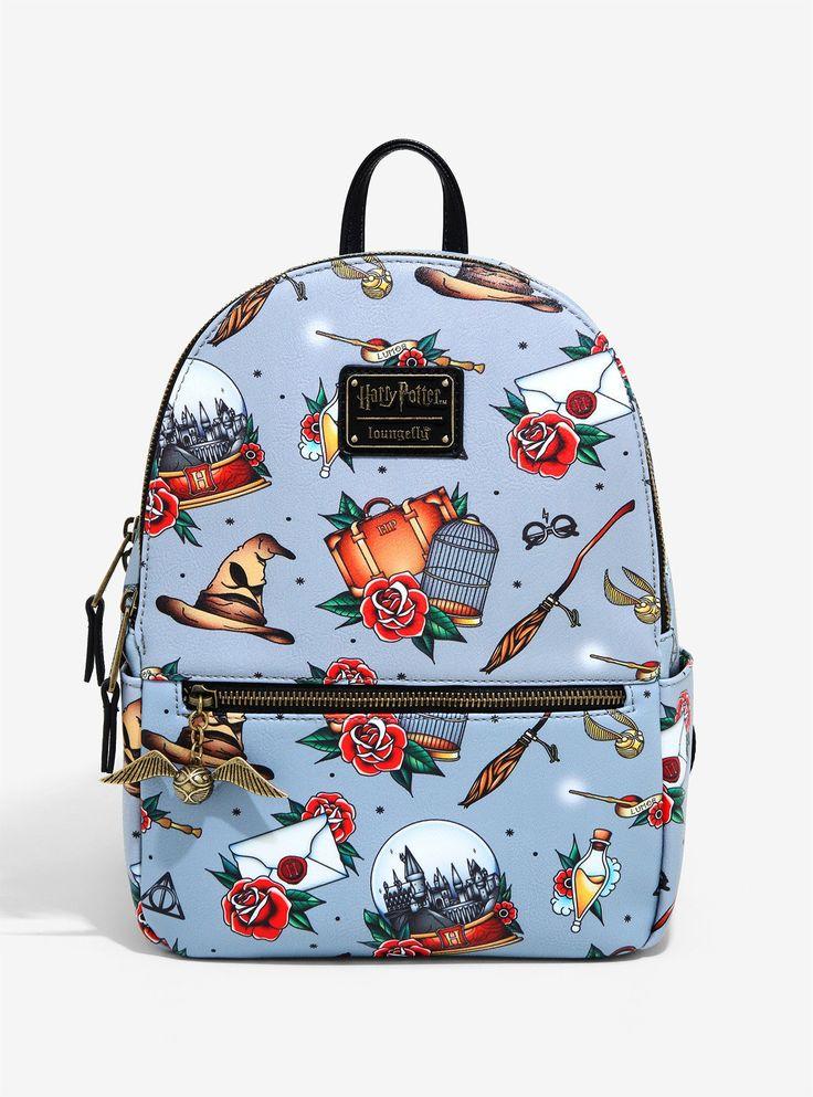 Loungefly harry potter flash tattoo print mini backpack