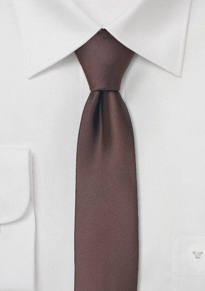 Schmale Krawatte mocca