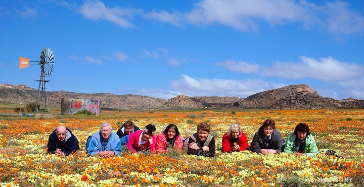 Our tour members enjoying the spectacular spring blooms.   Info@namakwatoere.com