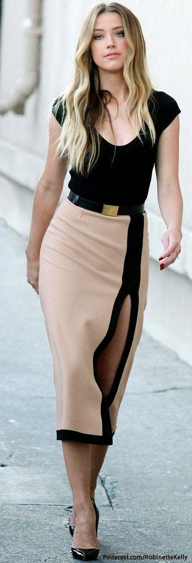 ღ♥♥ღ Fashion Is Life ღ♥♥ღ: Amber Heard arriving at the Jimmy Kimmel set