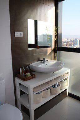 mueble lavabo mesa lack | Decorar tu casa es facilisimo.com