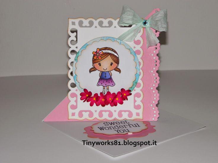 TinyWorks: Twisted Easel Card Buon giorno a tutti.... Nuovo tutorial!!!!! Venite a curiosare......