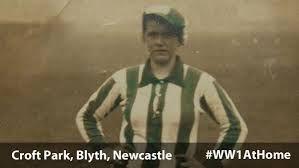 Bella Reay football Blyth Spartans during WW1