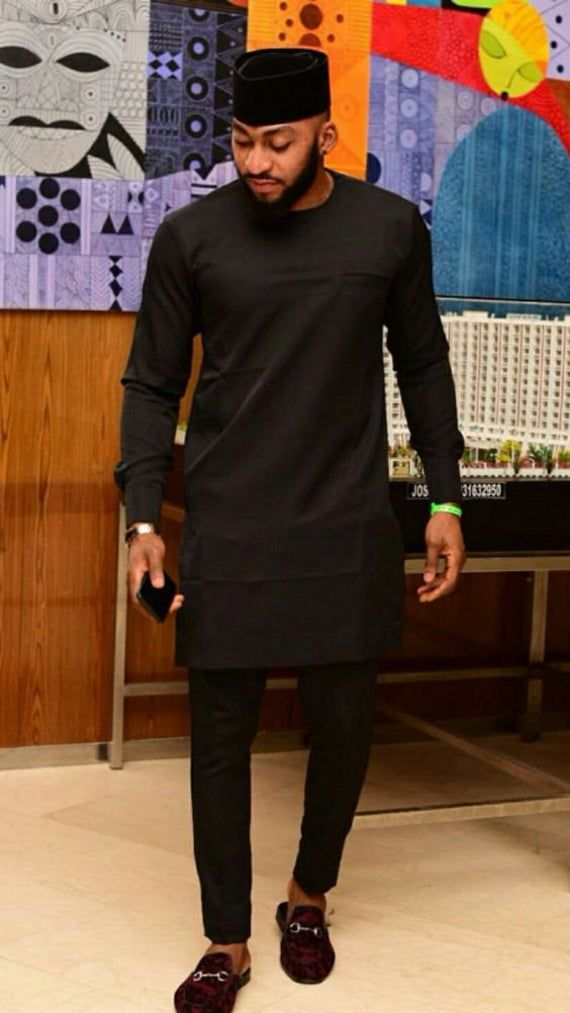 Black Mens Clothing/ Prom Men African Print Clothing/ Wedding guest outfit/ African Groom/ Grooms me