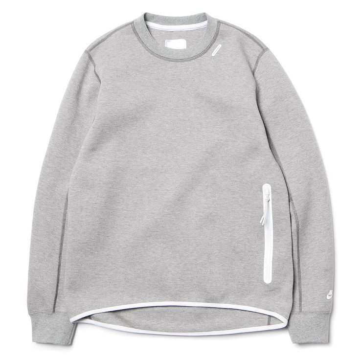 White Label TF 1MM Crew Carbon Heather/White