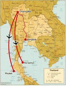 In een rondreis van 3 weken kun je in Thailand alles zien. Bangkok, Chiang Mai, Bridge over the river Kwai en uitrusten op de tropische stranden. Begin in ..