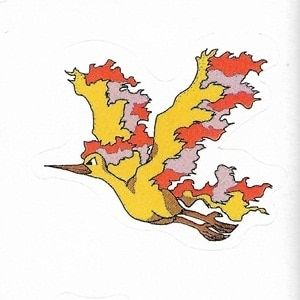Pokemon Moltres small sticker 5206-146