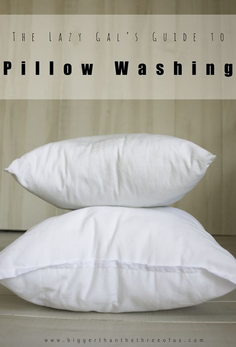 the lazy gal 39 s guide to pillow washing it is need to and did you know. Black Bedroom Furniture Sets. Home Design Ideas
