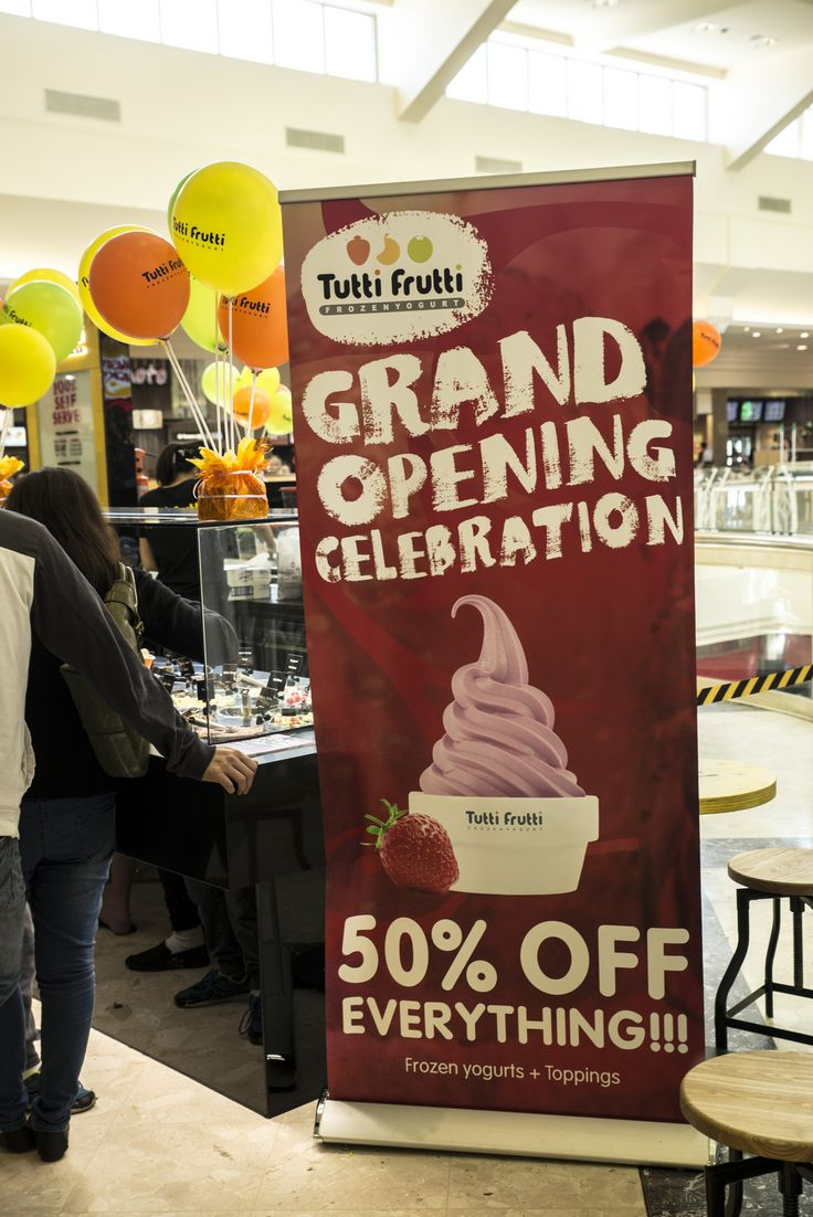 50% off #froyo and toppings! At Westfield Knox Grand Opening