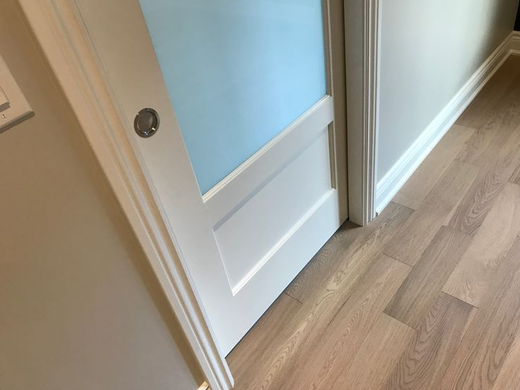 Trim and doors sprayed in Benjamin Moore Advance pearl, the only trim enamel we use.