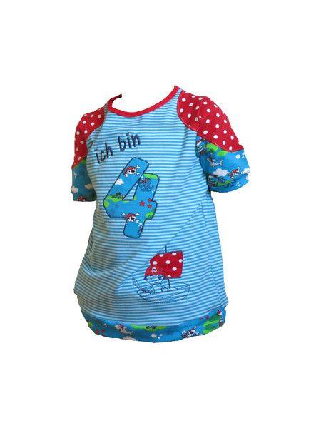 Geburtstagsshirt mit Stickerei und Beflockung von sesi for kids auf DaWanda.com