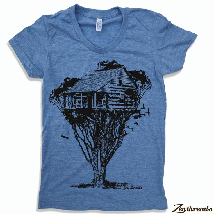 Womens TREEHOUSE Cabin t shirt american apparel S M L XL (17 Colors Available) by ZenThreads on Etsy https://www.etsy.com/listing/62780925/womens-treehouse-cabin-t-shirt-american