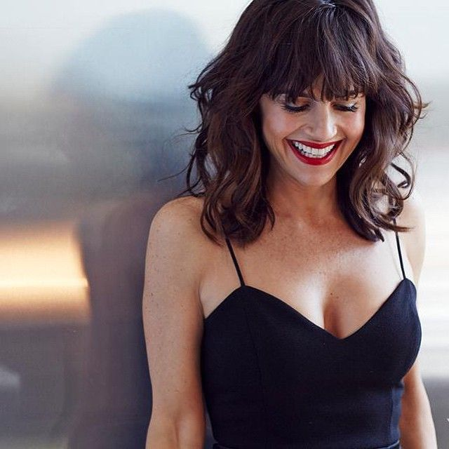 Carla Gugino in LA. Caption says is part of a photoshoot for Yahoo Style.