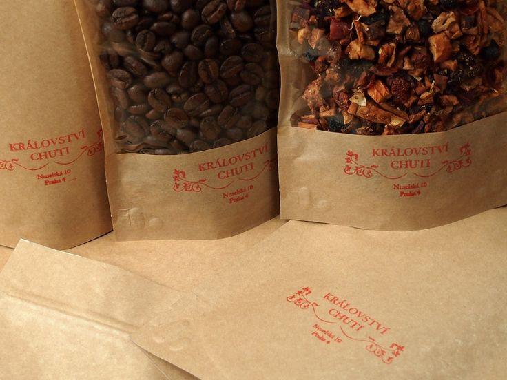 Balení kávy a čaje v e-shopu Království chuti