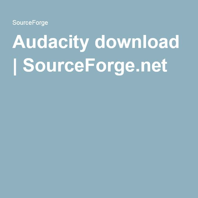 Audacity download | SourceForge.net