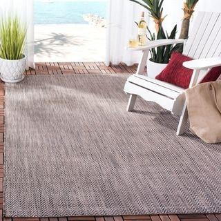 Safavieh Courtyard Carolann Indoor/ Outdoor Rug (6'7″ x 9'6″ – Natural/Cream), Beige