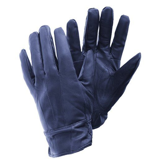 (フロソ) FLOSO レディース クラシック シープスキン レザーグローブ 本革手袋 ファッション手袋 冬 女性用 (S/M) (ブラック)